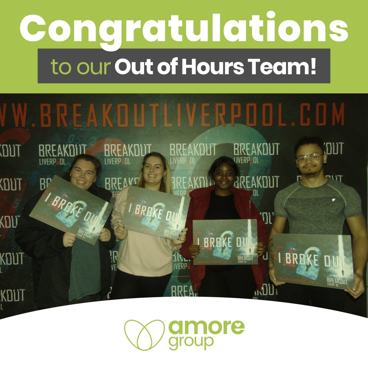 Our strong team made their escape!