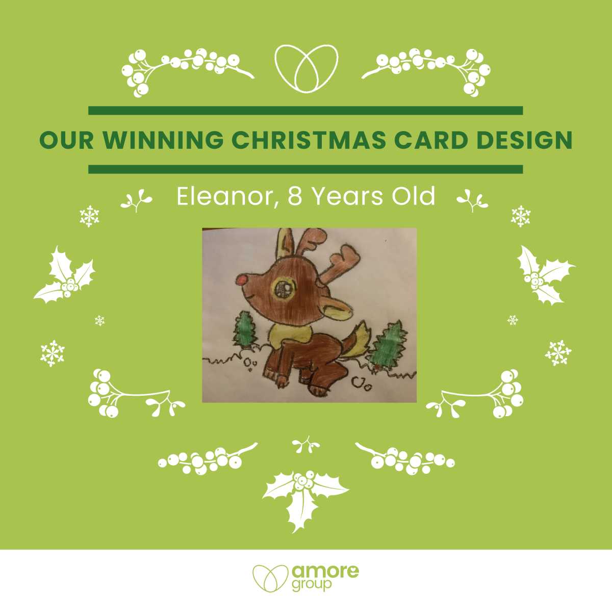 Our Winning Christmas Card Design…