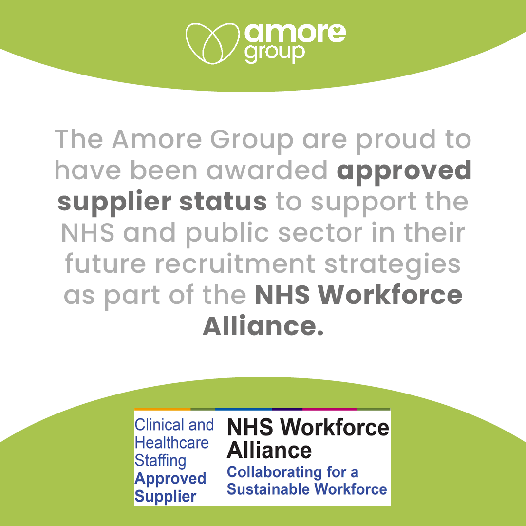 Proud to have been awarded approved supplier status as part of the NHS Workforce Alliance