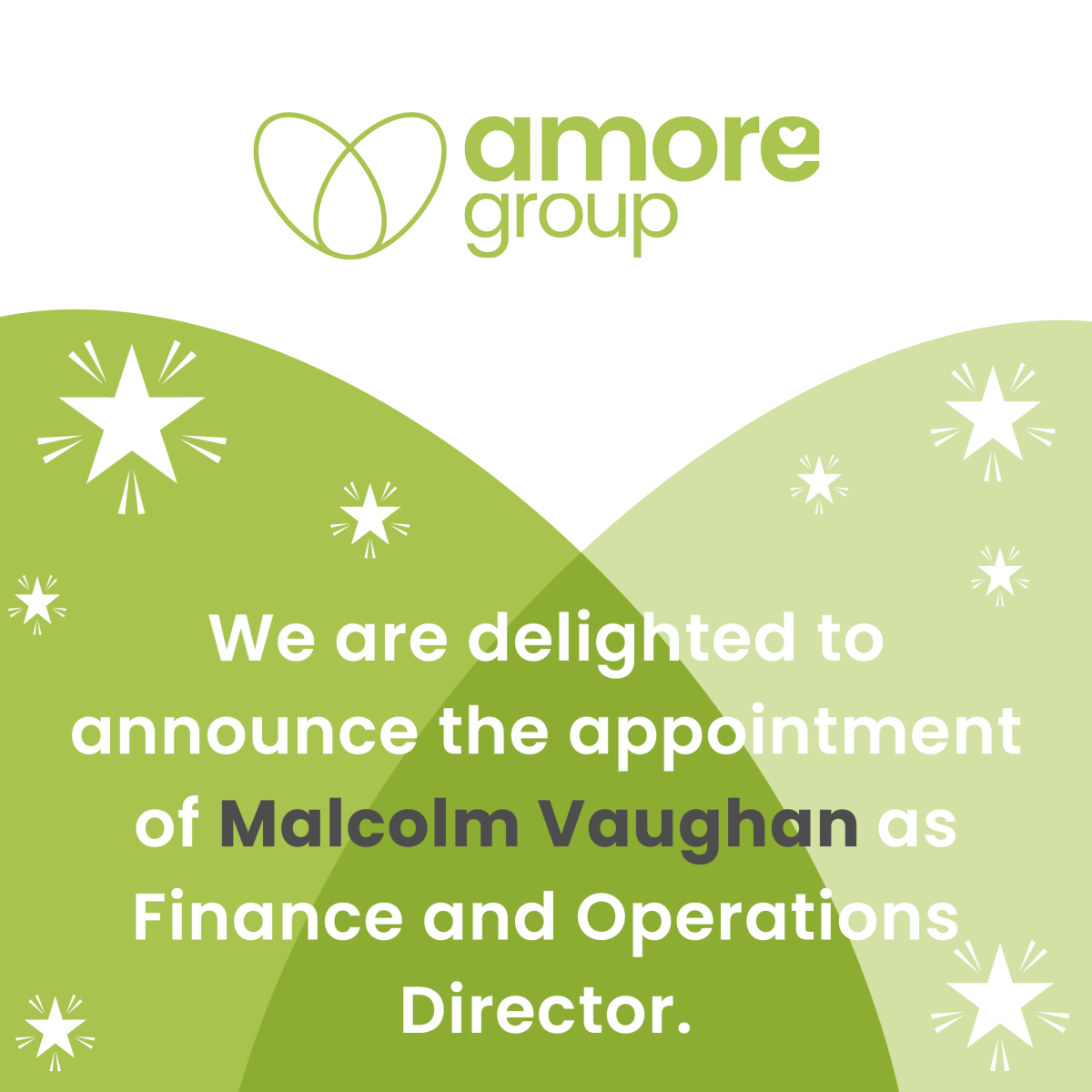 Congratulations to Malcolm Vaughan on the appointment of Finance and Operations Director
