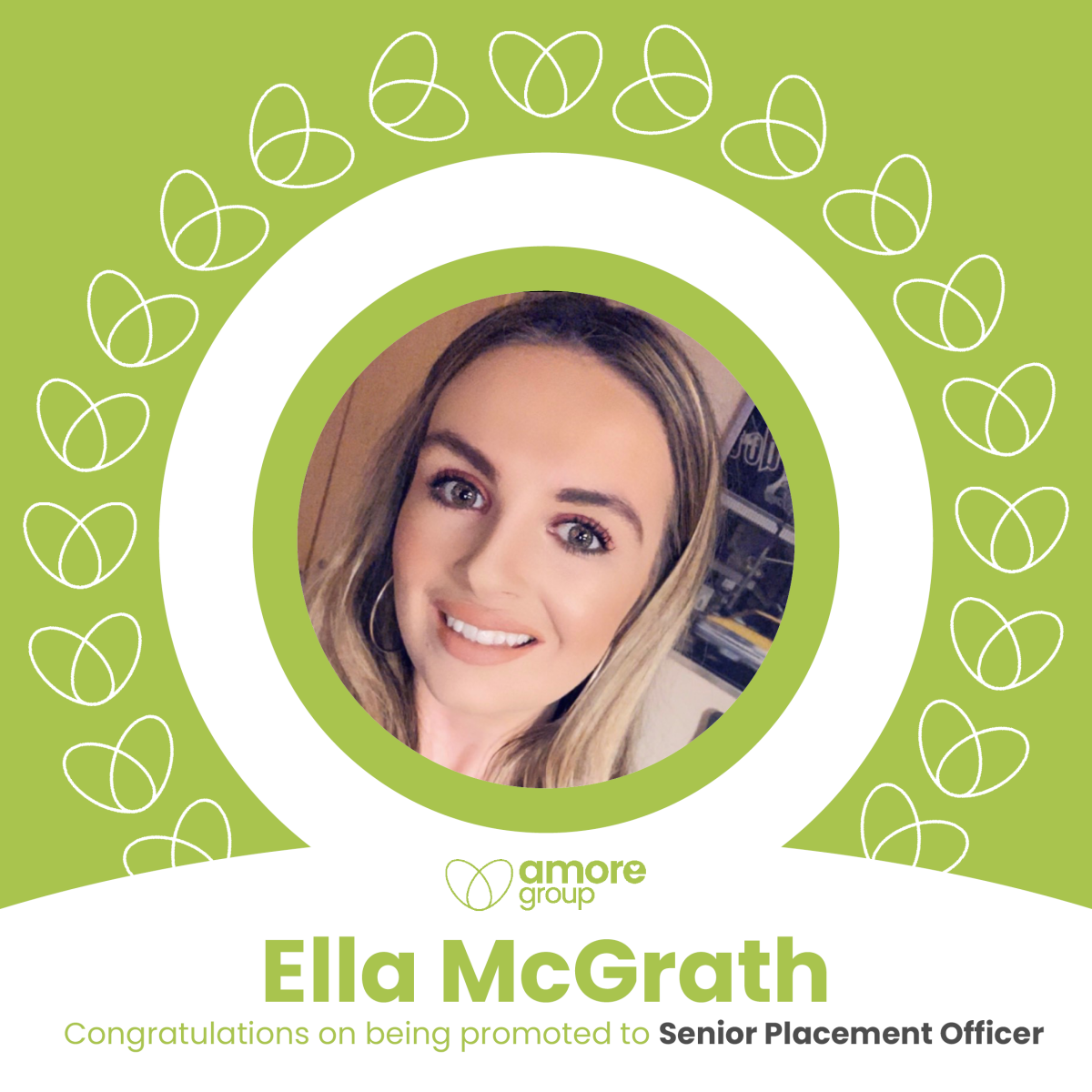 Congratulations to Ella McGrath on being promoted to Senior Placement Officer