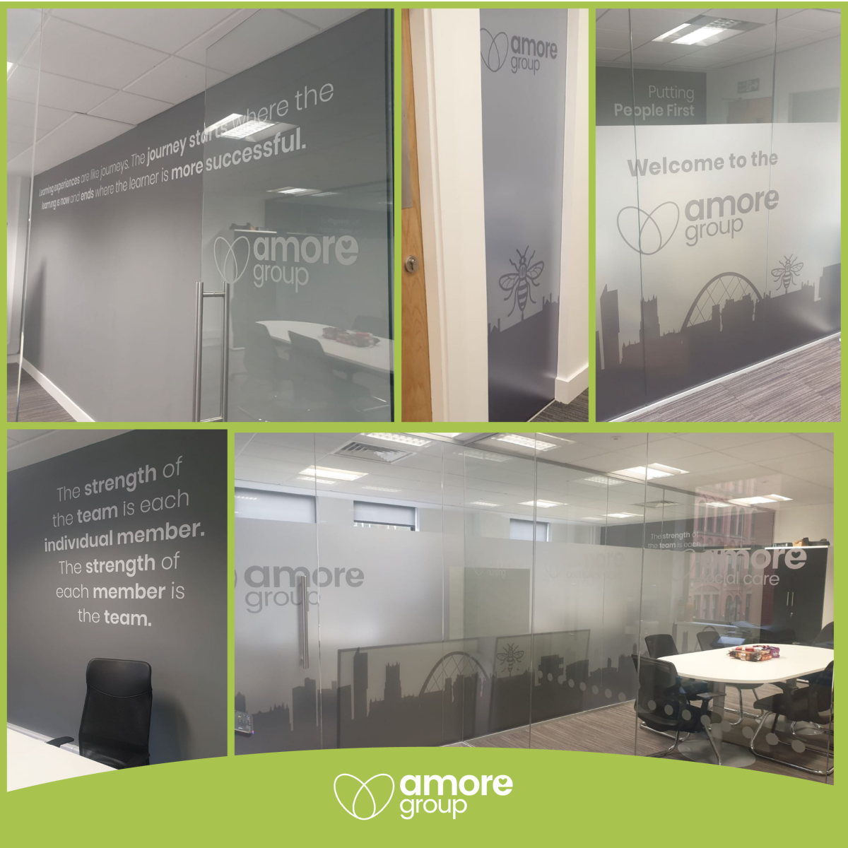 Take a look at our 'un-bee-lievable' new office branding!